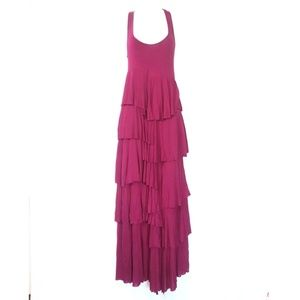 Soft Surroundings size small knit maxi dress pink
